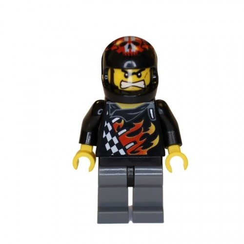 wr009 - LEGO World Racers minifigura Backyard Blaster