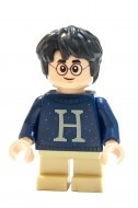 hp206 - LEGO Harry Potter minifigura - Harry Potter sötétkék pulcsiban