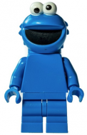 idea077 - LEGO Minifigura 123 Sesame Street Cookie Monster minifigura